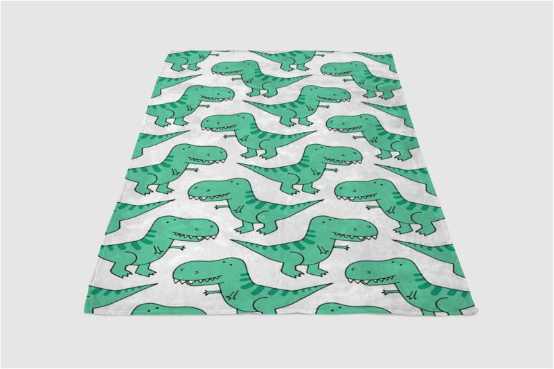 Dinosaur Background Fleece Blanket