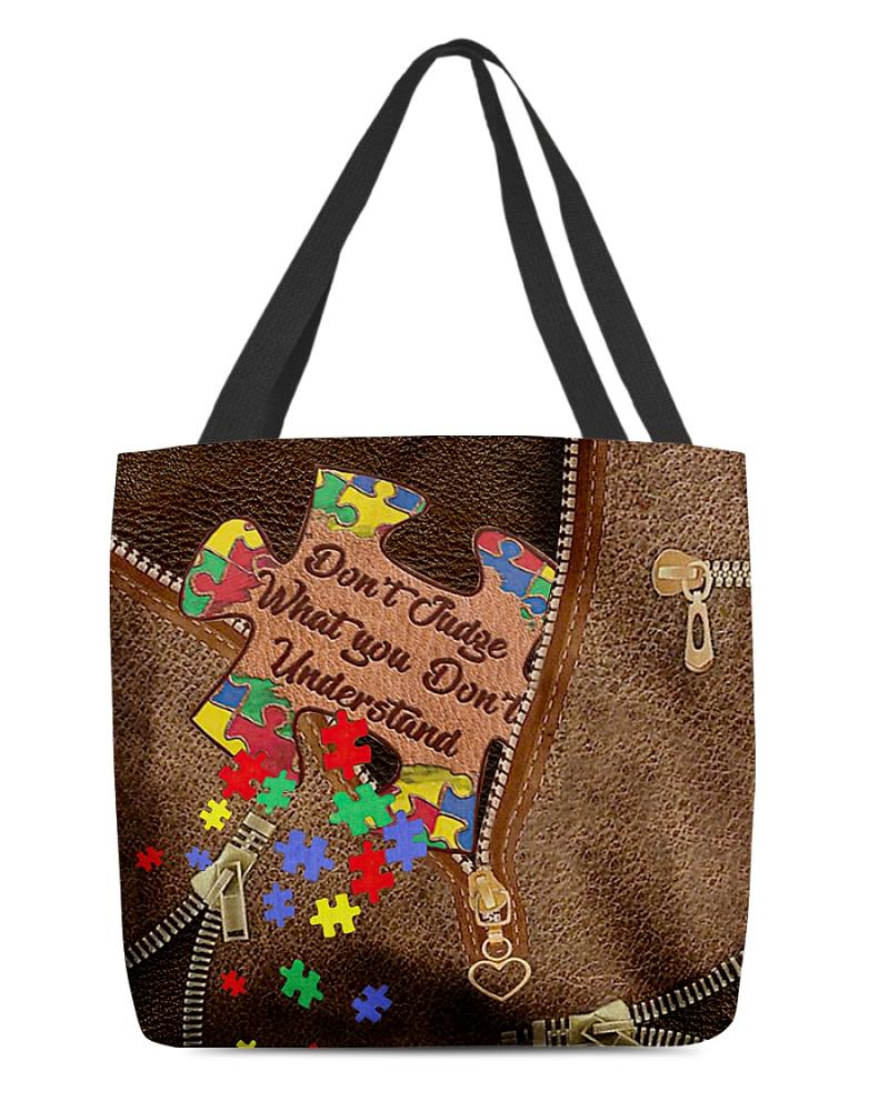 Don't Judge What You Don't Understand All-Over Tote