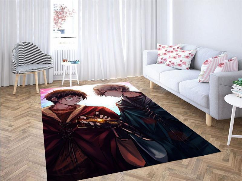 Draco And Harry Potter Anime Syle Carpet Rug