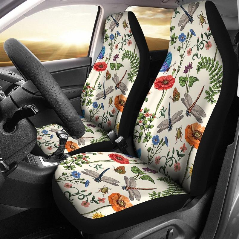 Dragonfly Colors Art Car Seat Covers