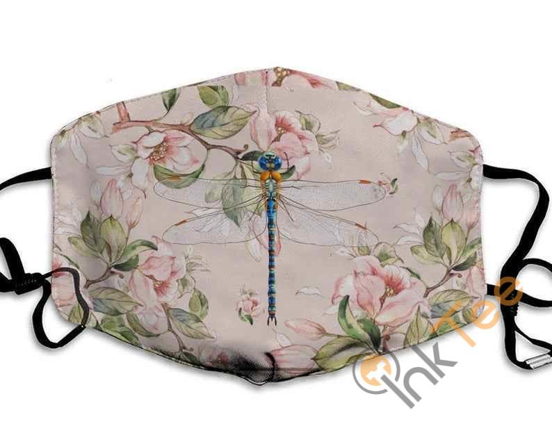 Dragonfly Flower Lover Handmade Anti Droplet Filter Cotton Face Mask