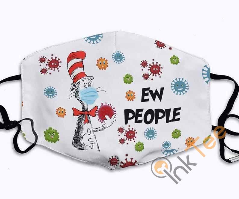 Ew People Cat In The Hat I Will Wear My Here Or There Anti Droplet Filter Cotton Face Mask