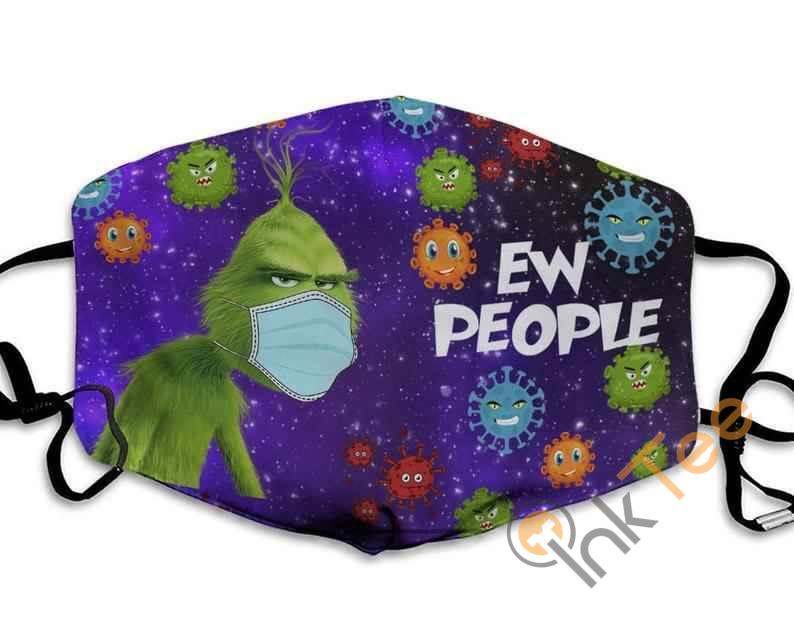 Ew People Galaxy The Grinch Stole Christmas Resting Anti Droplet Filter Cotton Face Mask