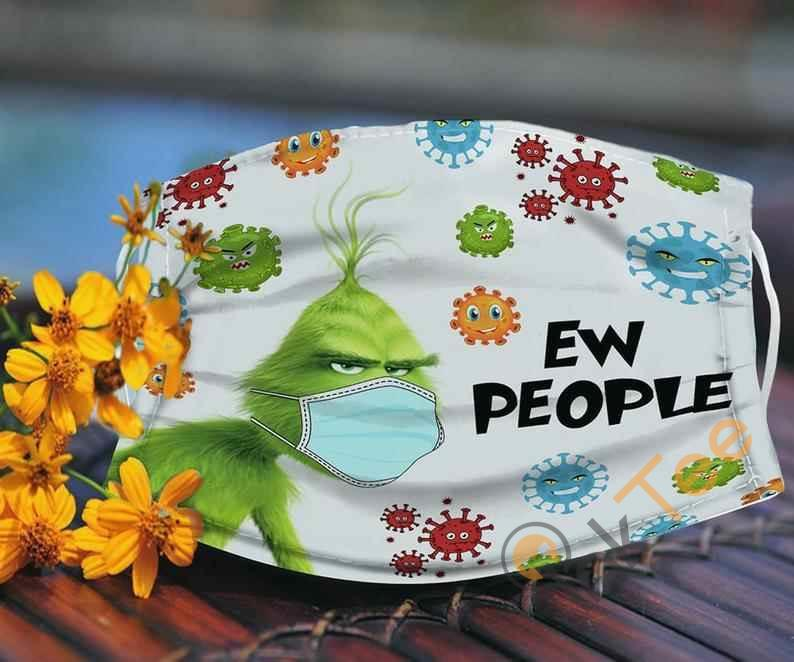 Ew People The Grinch Stole Christmas Resting Anti Droplet Filter Cotton Face Mask