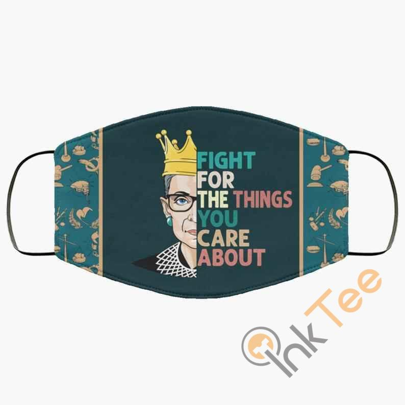 Fight For The Things You Care About Ruth 3 Layer Adult Kid Washable Reusable Face Mask