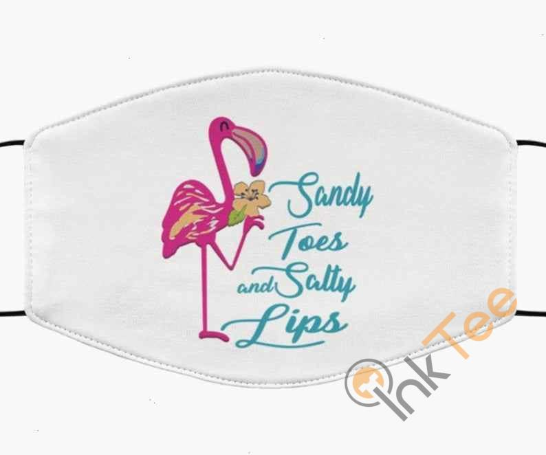 Flamingo Sandy Toes And Salty Lips Handmade Anti Droplet Filter Cotton Face Mask