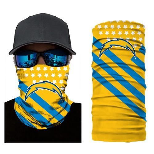 Football San Diego Chargers Scarf Sports Bandana Neck Gaiter No2252 Face Mask