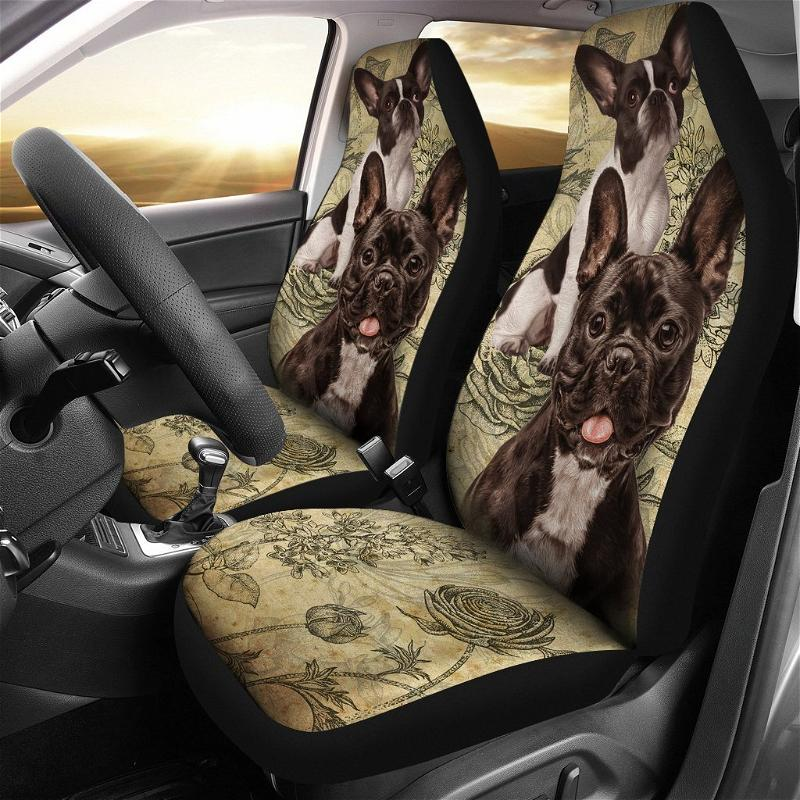 French Bulldog Funny Gift Ideas Car Seat Covers