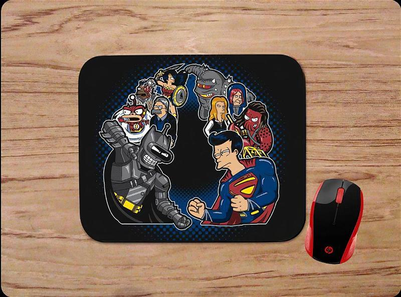 Futurama Characters Super Heroes Mouse Pads