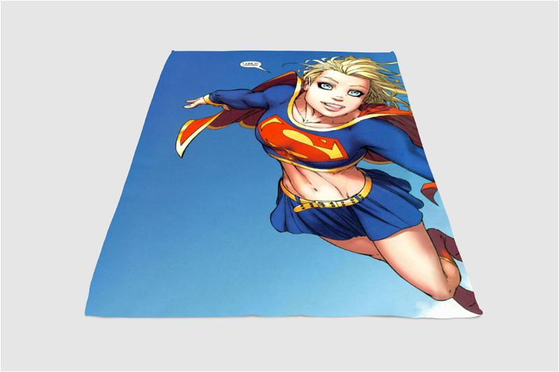 Girl Superman Fleece Blanket