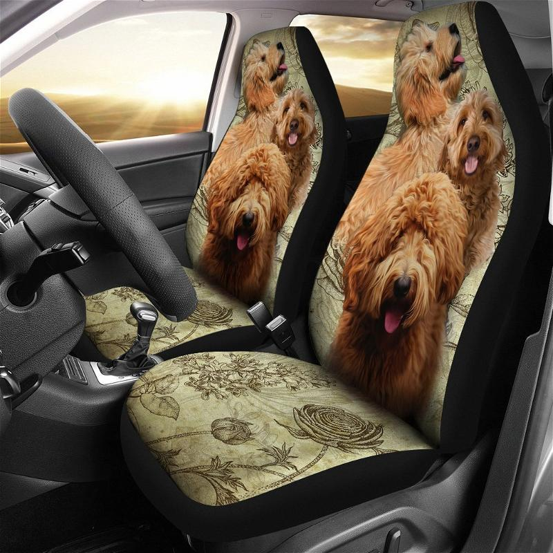 Goldendoodle Dogs Pets Car Seat Covers