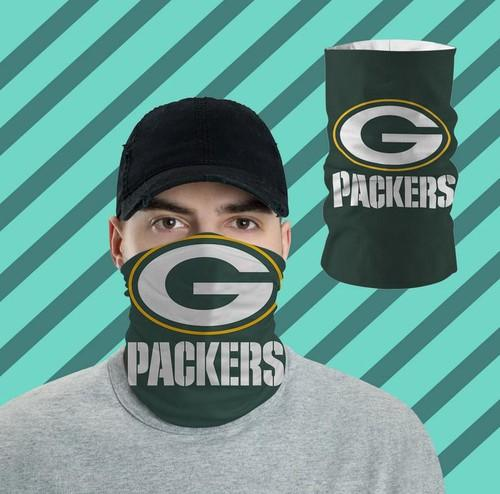 Green Bay Packers Bandanas Shied All Over Prints Neck Gaiters No2420 Face Mask
