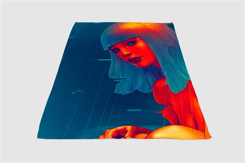Hologram Girl Blade Runner 2049 Fleece Blanket