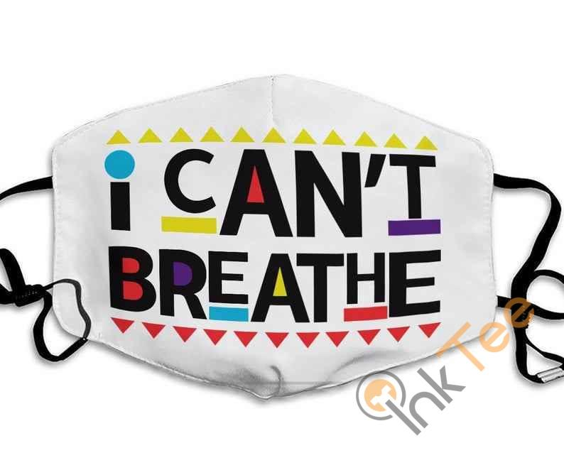 I Can't Breathe Handmade Be Washed Anti Droplet Filter Cotton Face Mask
