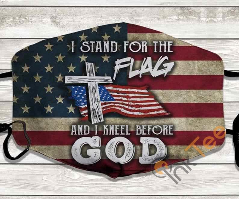 I Stand For The Flag And Kneel Before God Handmade Anti Droplet Filter Cotton Face Mask