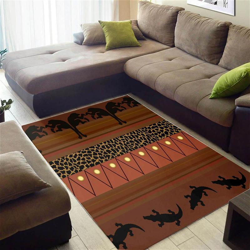Inspired African American Colorful Afrocentric Art Carpet Room Rug