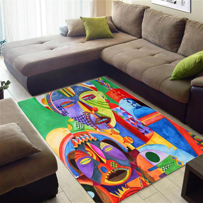 Inspired African American Cute Afro Lady Large Carpet Living Room Rug