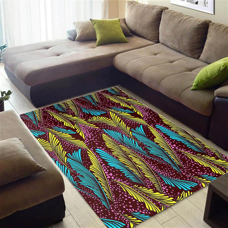 Inspired African American Nice Afrocentric Ethnic Seamless Pattern Themed Home Rug