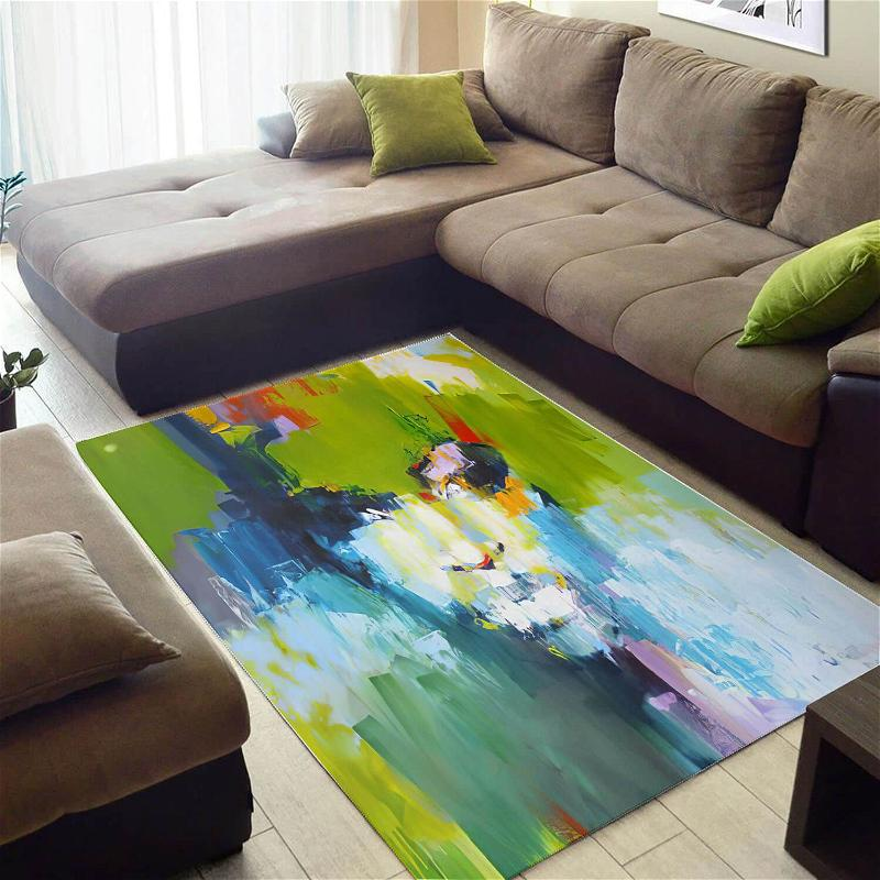 Inspired African Cute American Black Art Afro Lady Themed Living Room Rug
