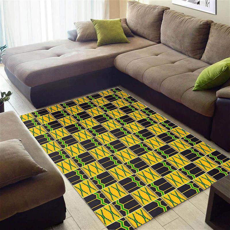 Inspired African Style Adorable Black History Month Seamless Pattern Floor Rug