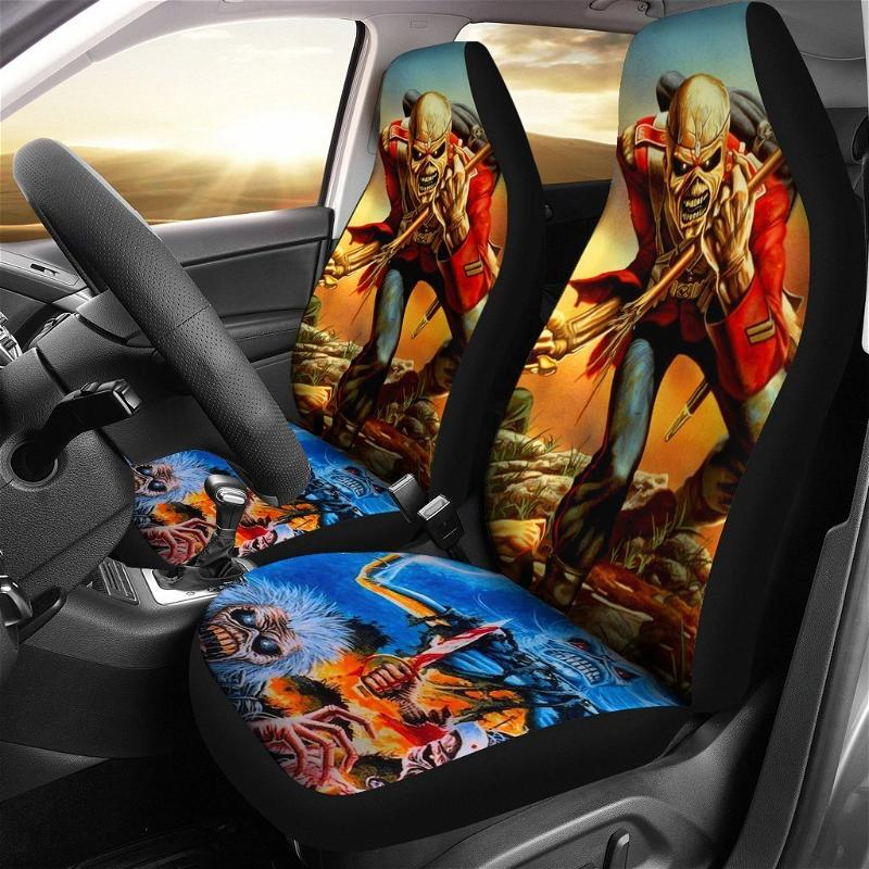 Iron Maiden Heavy Metal Band Car Seat Covers