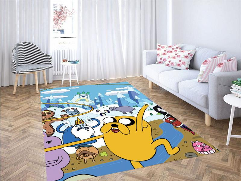 Jake And Another Character Adventure Time Carpet Rug