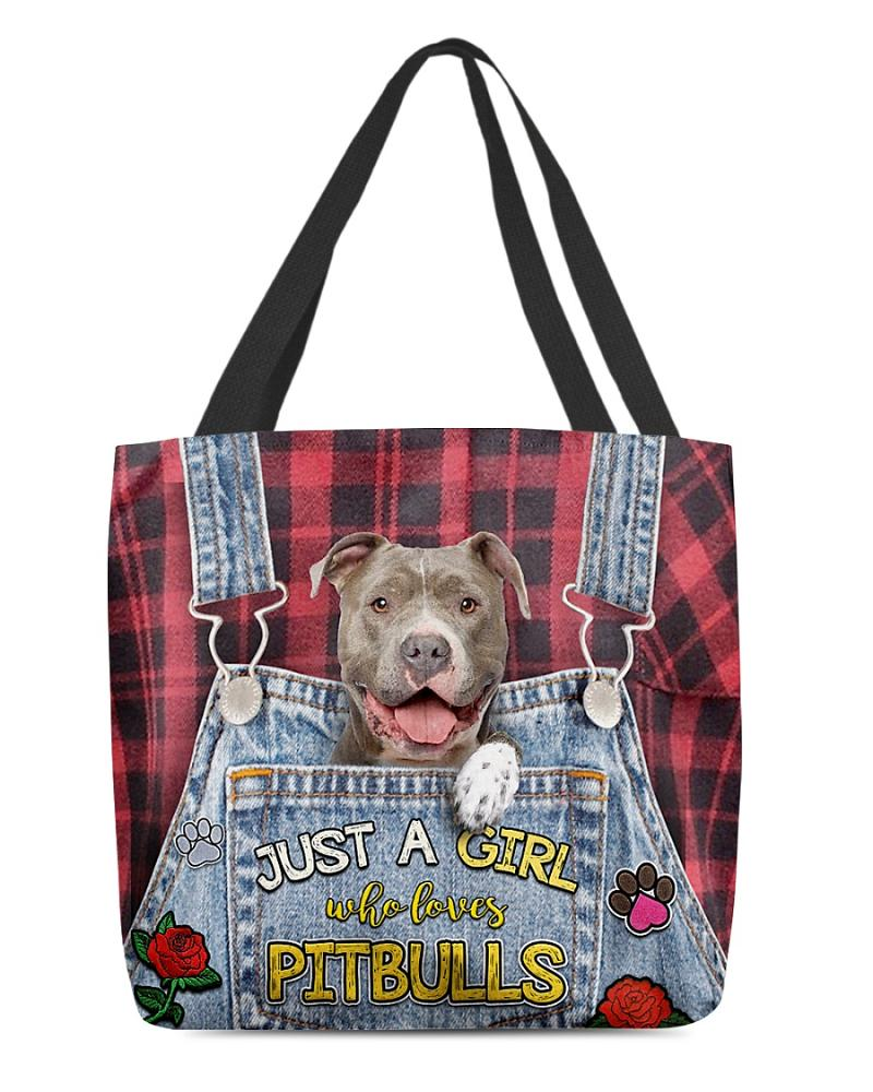 Just A Girl Who Loves Pitbulls All-Over Tote