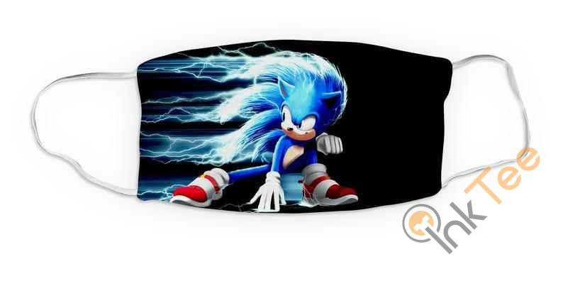 Kids Sonic Movie Reusable Washable 5085 Face Mask