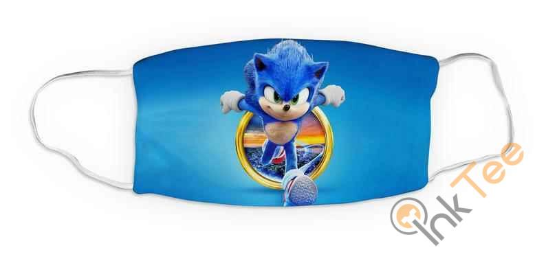 Kids Sonic Movie Reusable Washable 5094 Face Mask