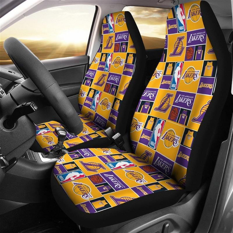 Lakers Art Patterns Car Seat Covers