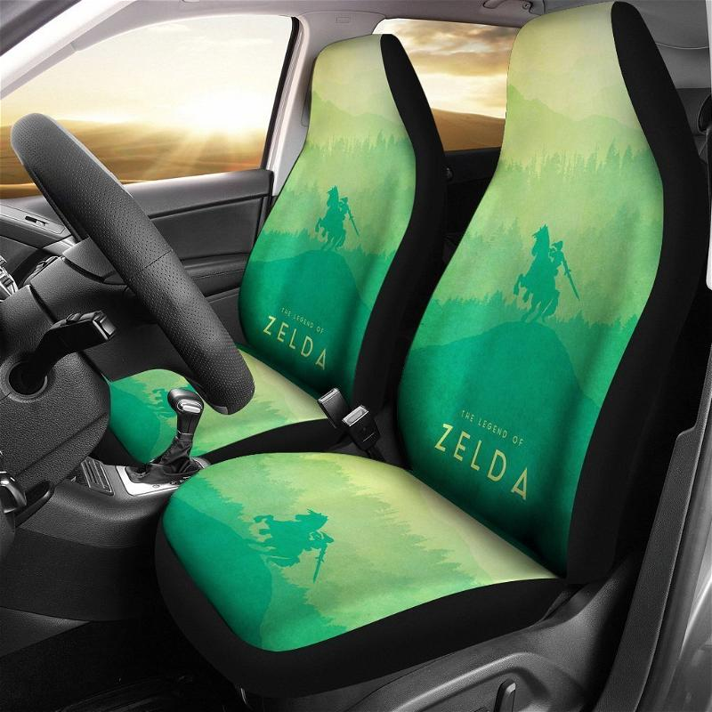 Legend Of Zelda Breath Of The Wild Anime 2 Car Seat Covers