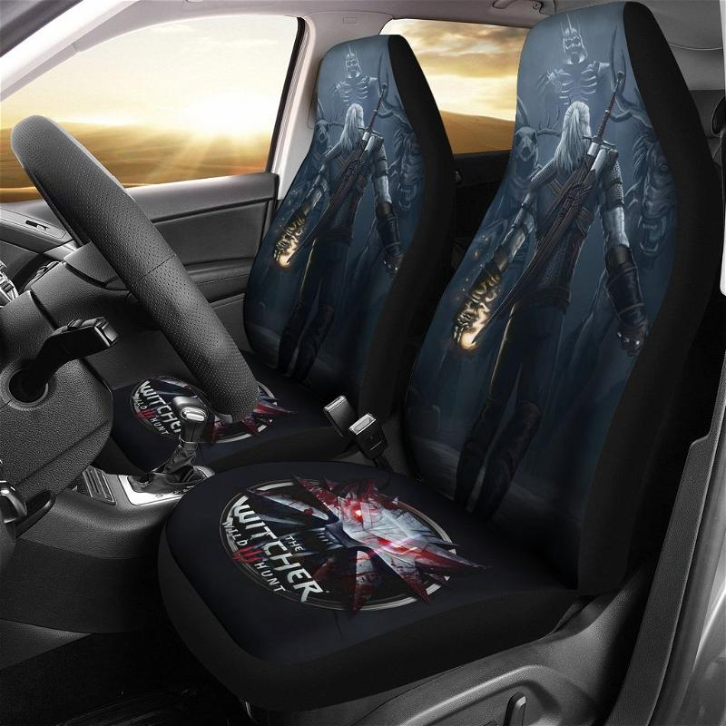 Logo The Witcher 3: Wild Hunt Geralt Game Car Seat Covers