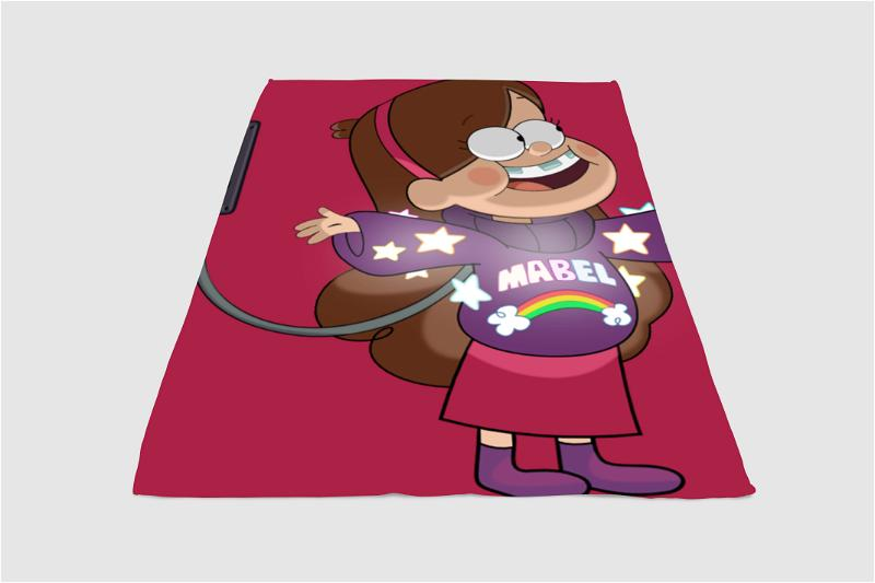 Mabel Pines Gravty Falls Fleece Blanket
