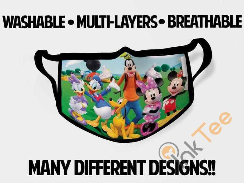 Mickey Mouse Clubhouse Friends Goofy Childrens Kids Reusable 5062 Face Mask