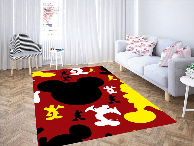 Mickey Mouse Silhouette Carpet Rug