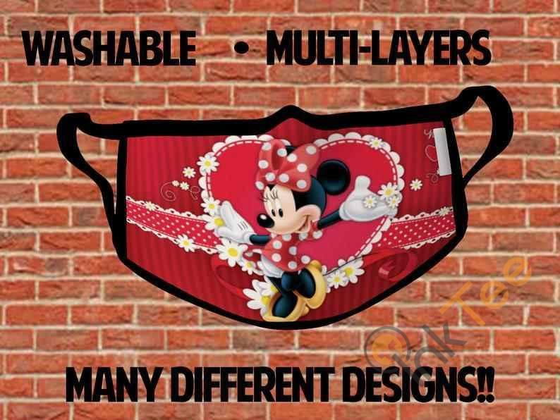 Minnie Mouse Childrens Kids Reusable 5065 Face Mask