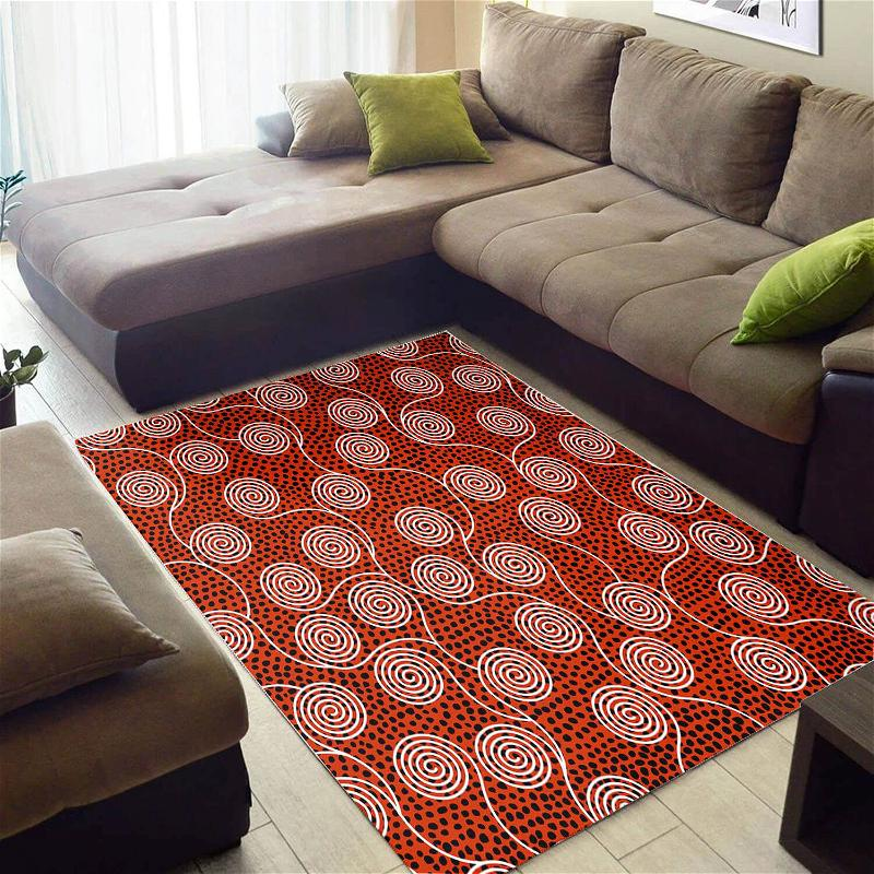 Modern African American Abstract Natural Hair Seamless Pattern Design Floor Carpet Inspired Living Room Rug