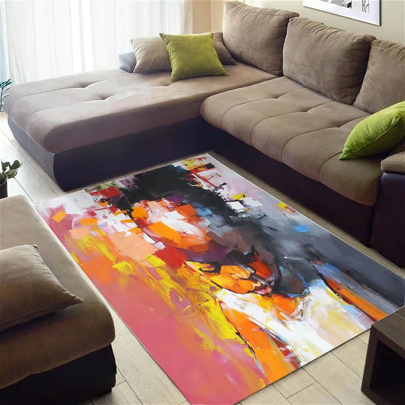Modern African American Beautiful Afrocentric Melanin Girl Style Carpet Themed Home Rug