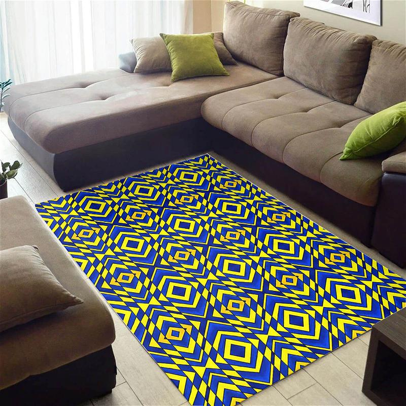 Modern African American Inspired Afrocentric Pattern Art Carpet Living Room Rug