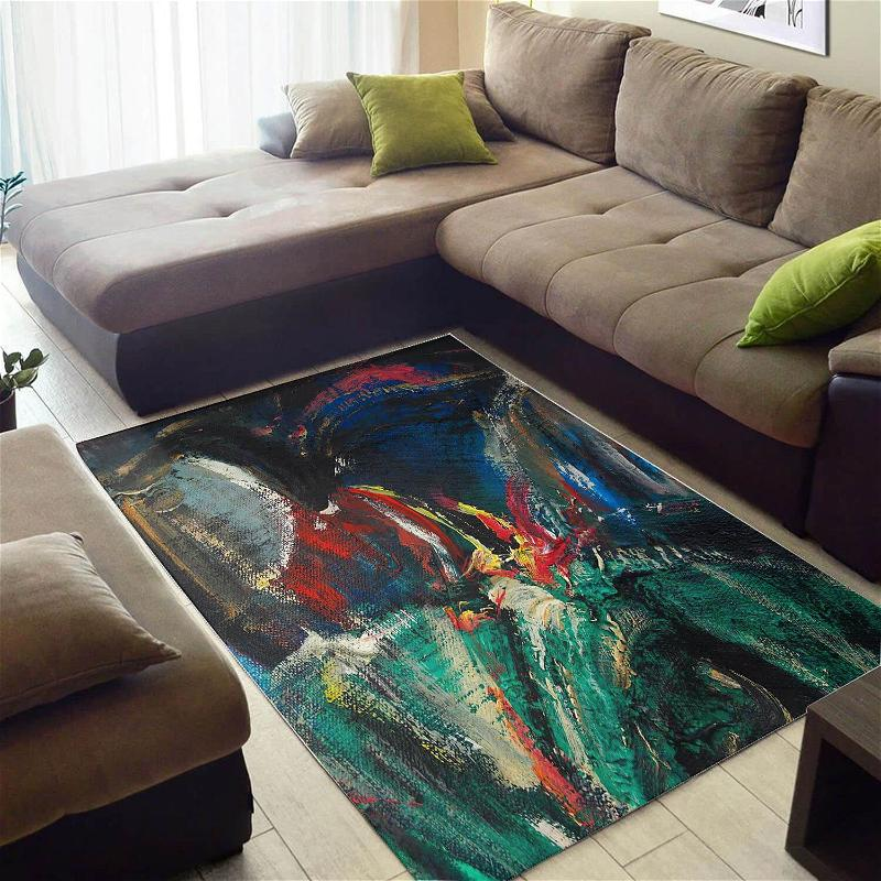Modern African Style Attractive American Art Seamless Pattern Carpet Inspired Living Room Rug