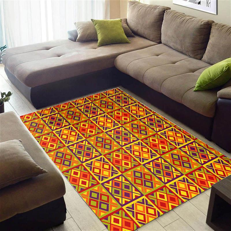 Modern African Style Awesome Black History Month Seamless Pattern Themed Room Rug