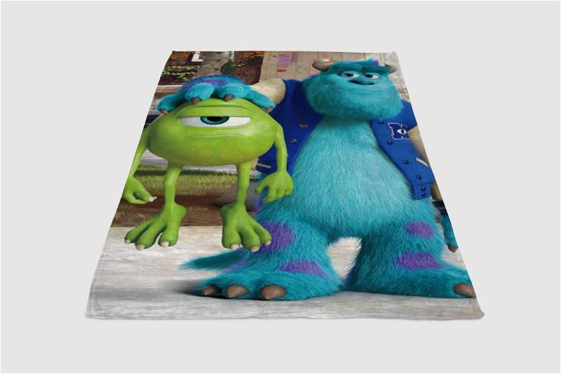 Monsters And Mike University Fleece Blanket