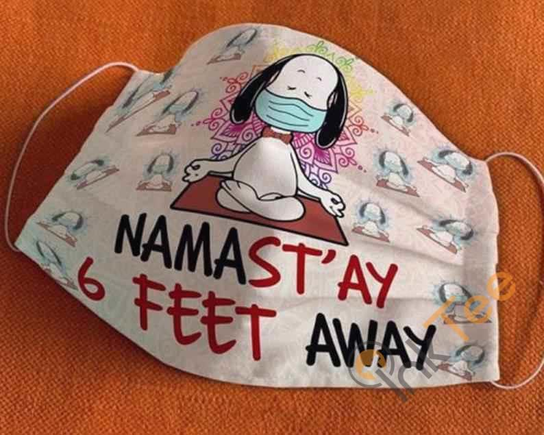 Nama Stay 6 Feet Away Snoopy The Peanut Handmade Anti Droplet Filter Cotton Face Mask