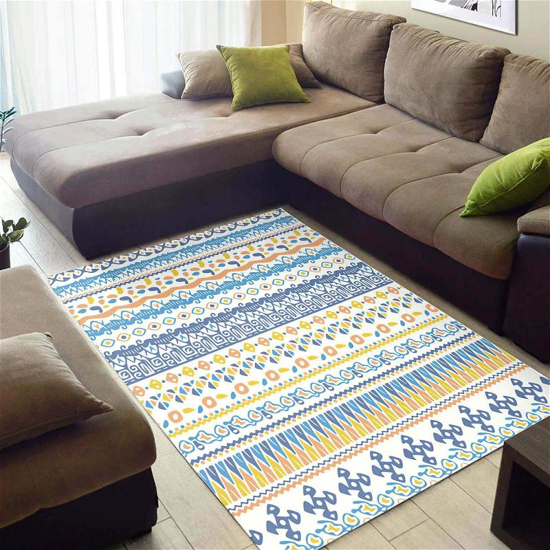 Nice African Abstract Seamless Pattern Style Floor Themed Home Rug