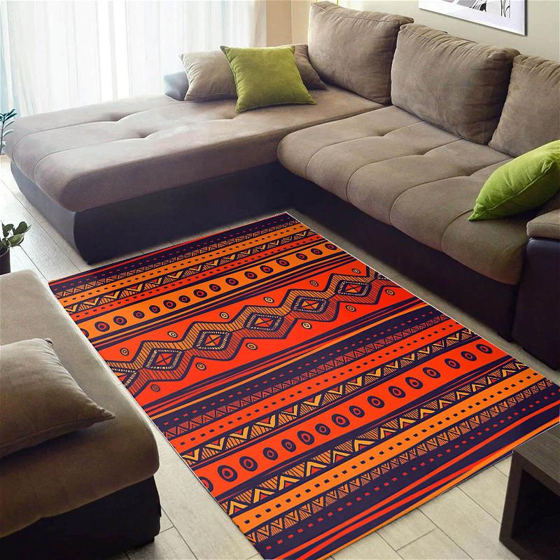 Nice African Abstract Style Afrocentric Art Carpet Inspired Home Rug