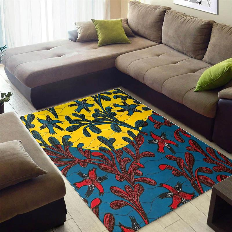 Nice African Graphic American Art Seamless Pattern Large Living Room Rug