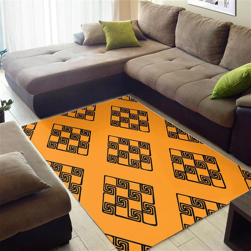Nice African Retro American Art Afrocentric Style Carpet Inspired Living Room Rug