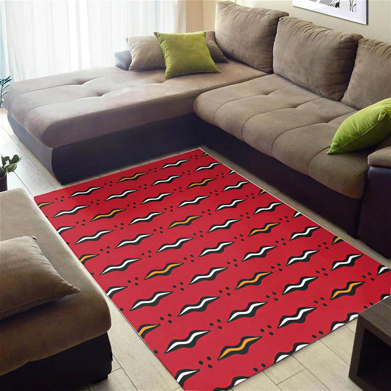 Nice African Unique Black History Month Ethnic Seamless Pattern Style Floor Themed Home Rug
