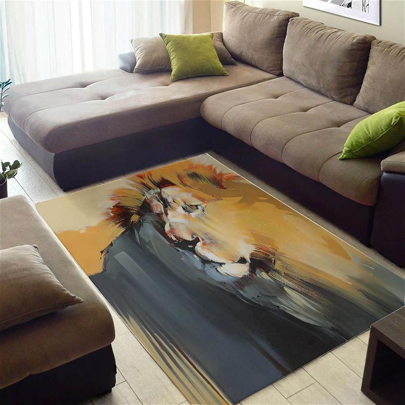 Nice African Vintage Style Animals Large Inspired Living Room Rug