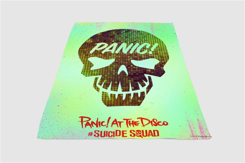 Panic At The Disco Suicide Squad Fleece Blanket